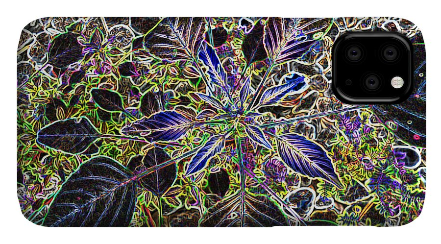 Weed IPhone Case featuring the digital art Just A Weed					 by Lovina Wright