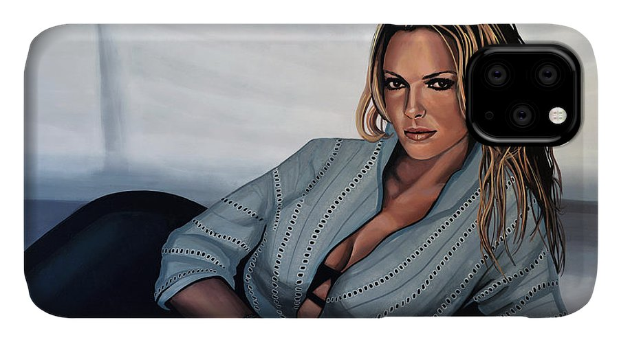 Katherine Heigl IPhone 11 Case featuring the painting Katherine Heigl by Paul Meijering