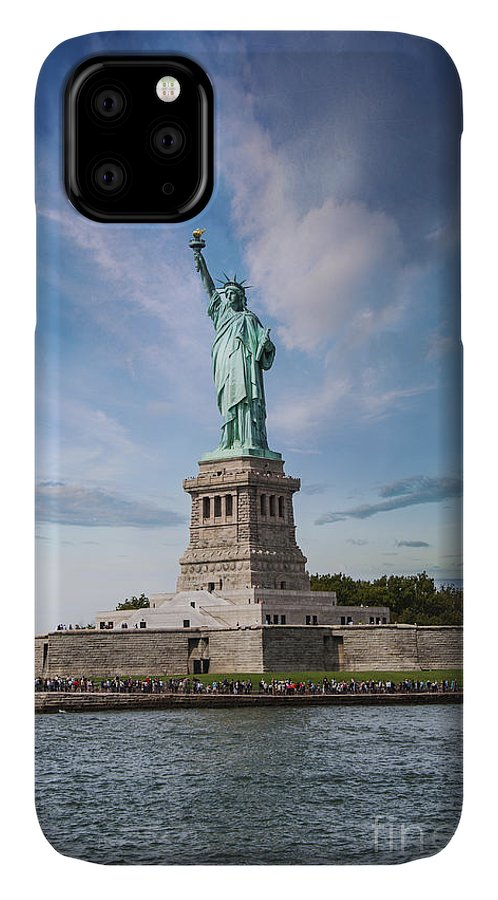 America IPhone Case featuring the photograph Lady Liberty by Juli Scalzi
