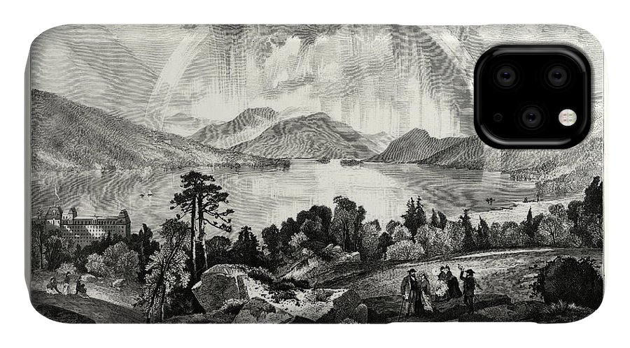 Pond IPhone Case featuring the drawing Lake George, Usa by American School