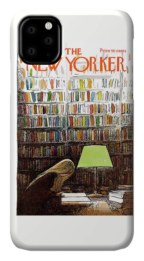 Library IPhone Case featuring the painting New Yorker March 3, 1973 by Arthur Getz