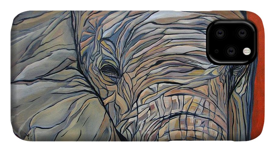 Elephant IPhone Case featuring the painting Lazy Boy by Aimee Vance