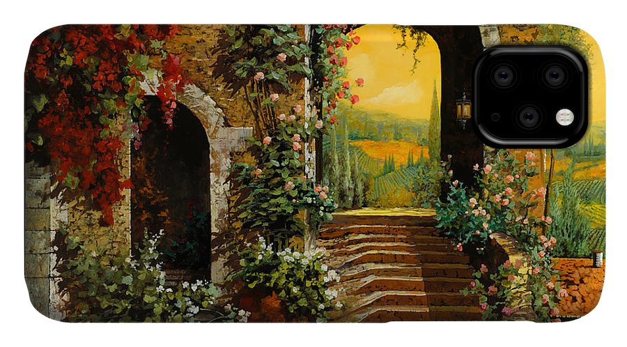 Arch IPhone Case featuring the painting Le Scale  by Guido Borelli