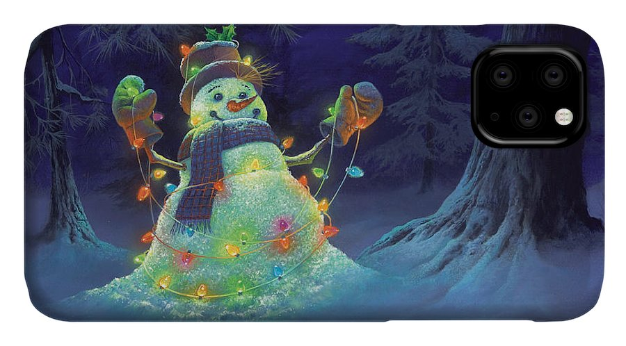 Michael Humphries IPhone 11 Case featuring the painting Let It Glow by Michael Humphries