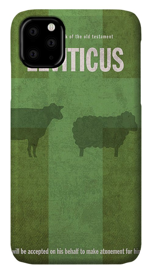 Leviticus IPhone Case featuring the mixed media Leviticus Books Of The Bible Series Old Testament Minimal Poster Art Number 3 by Design Turnpike