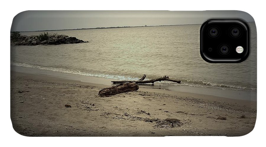 Sea IPhone Case featuring the photograph Lonely Seashore by Anandi Godse