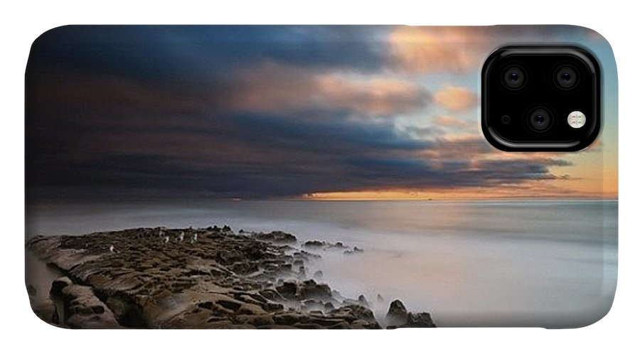 IPhone Case featuring the photograph Long Exposure Sunset Of An Incoming by Larry Marshall