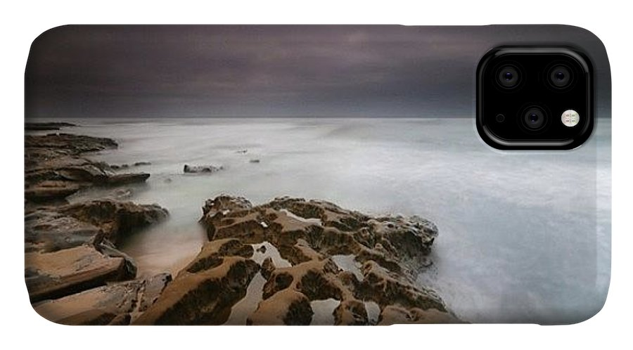 IPhone Case featuring the photograph Long Exposure Sunset On A Dark Stormy by Larry Marshall