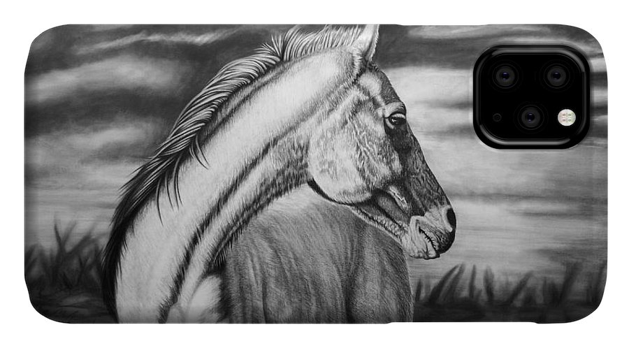 Canvas IPhone Case featuring the drawing Looking Back by Glen Powell