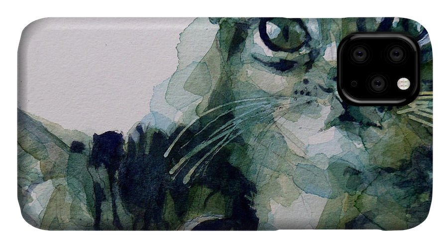Cats IPhone Case featuring the painting Looking For A Home by Paul Lovering