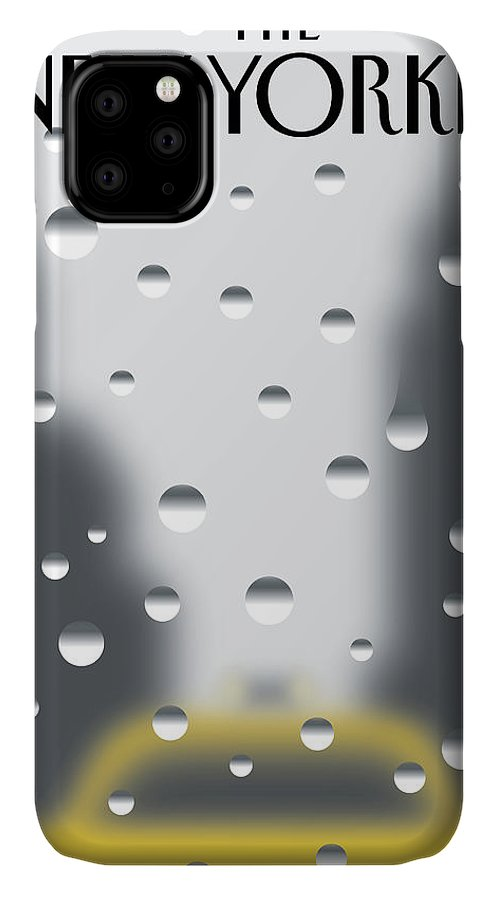 141060 IPhone Case featuring the painting Rainy Day by Christoph Niemann