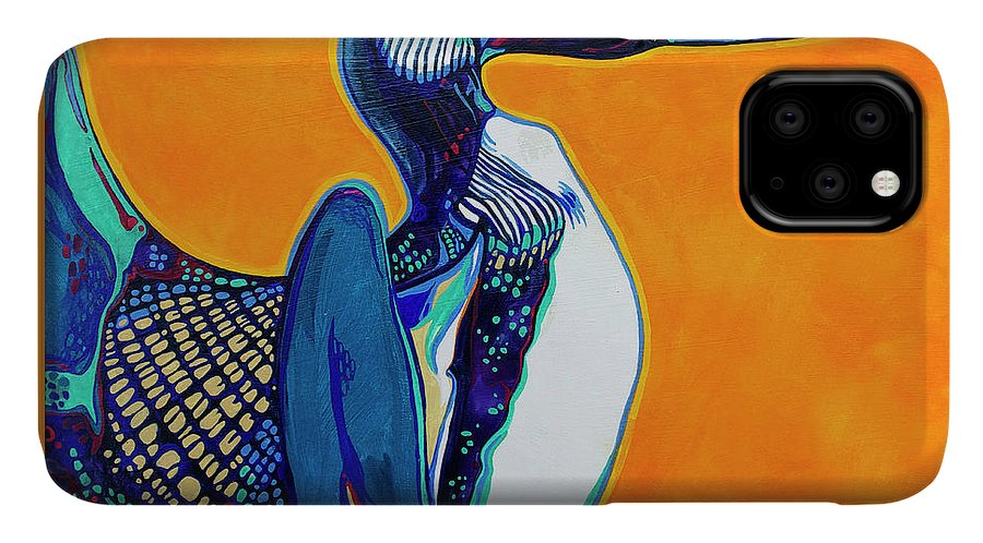 Loon IPhone Case featuring the painting Loon by Derrick Higgins
