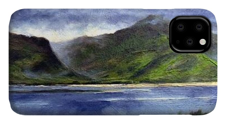 Irish IPhone Case featuring the painting Loughros Bay Ireland by Jim Gola