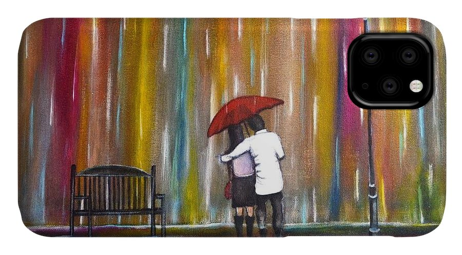 Romance IPhone Case featuring the photograph Love in the Rain by Manjiri Kanvinde