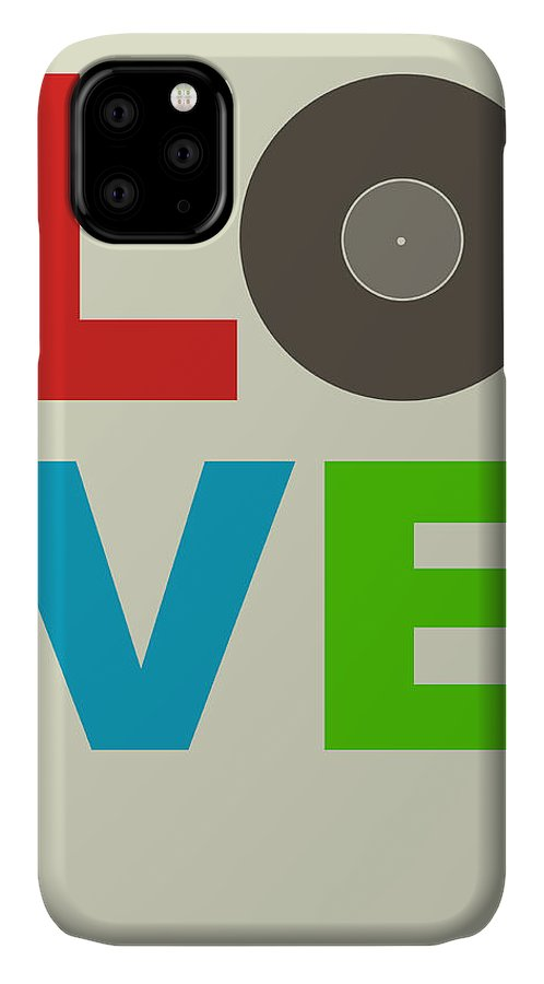 Quotes IPhone 11 Case featuring the digital art Love Poster by Naxart Studio