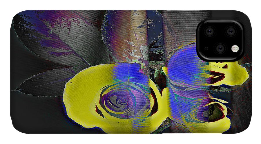 Yellow Rose Image IPhone Case featuring the digital art Lovely II by Yael VanGruber
