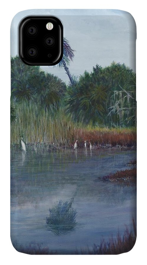 Landscape IPhone Case featuring the painting Low Country Social by Ben Kiger