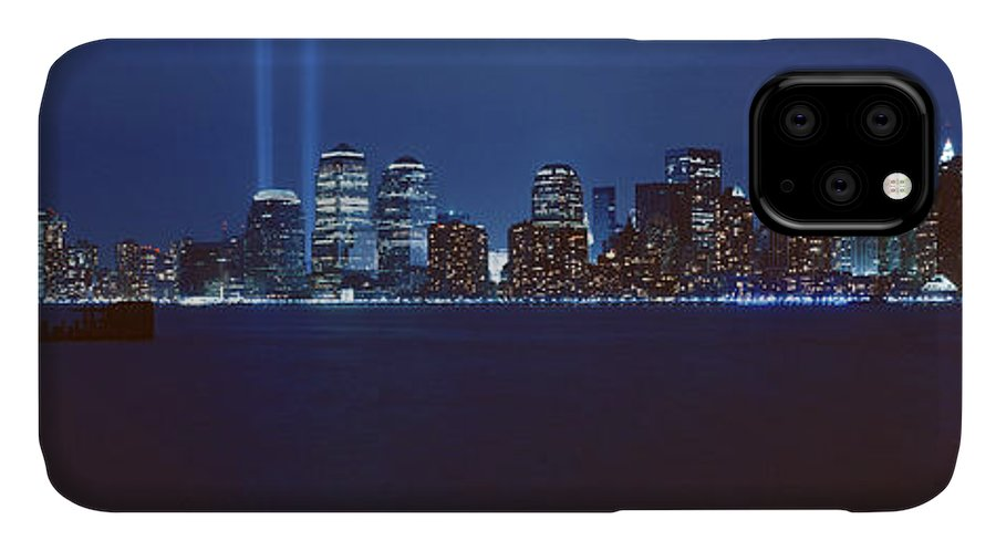Photography IPhone Case featuring the photograph Lower Manhattan, Beams Of Light, Nyc by Panoramic Images