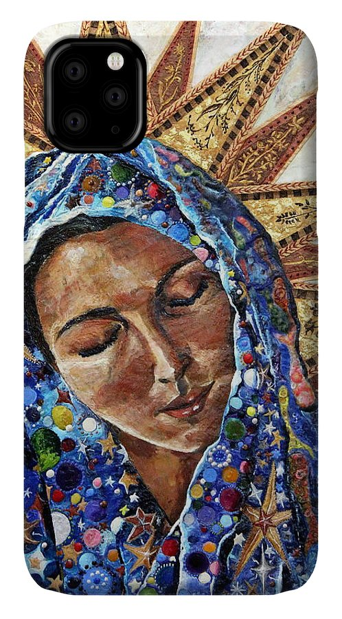 Madonna IPhone 11 Case featuring the painting Madonna Of The Dispossessed by Mary C Farrenkopf