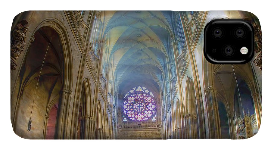 Church IPhone 11 Case featuring the photograph Magical Light by Joan Carroll