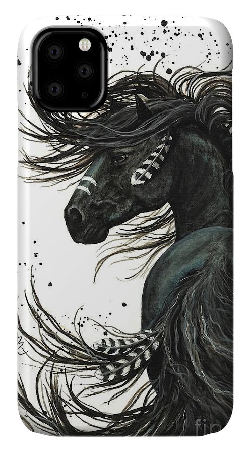 Mm65 IPhone Case featuring the painting Majestic Spirit Horse I by AmyLyn Bihrle