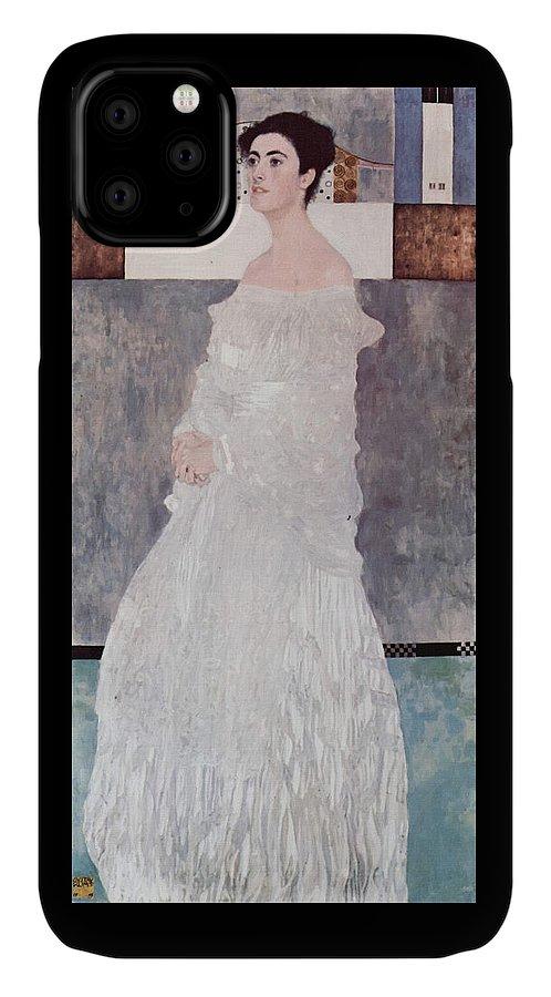 Gustav Klimt IPhone Case featuring the painting Margaret Stonborough Wittgenstein by Gustav Klimt