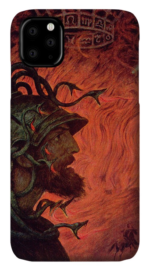 God Of War IPhone Case featuring the painting Mars by Hans Thoma