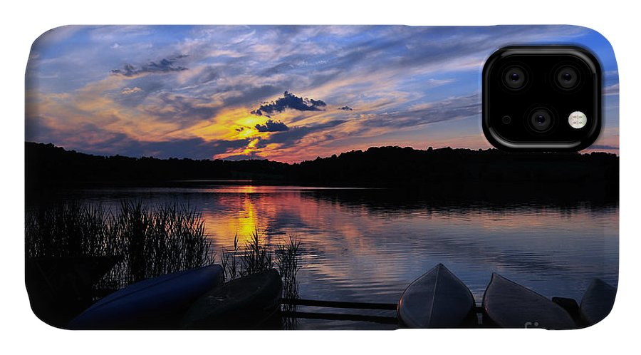 Marsh Creek State Park IPhone Case featuring the photograph Marsh Creek Sunset by Terri Winkler