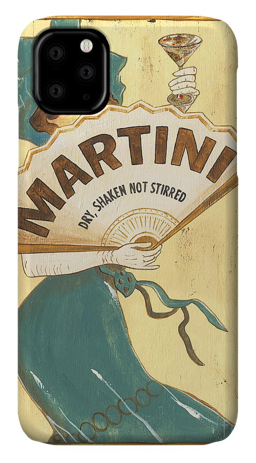 Martini IPhone Case featuring the painting Martini Dry by Debbie DeWitt