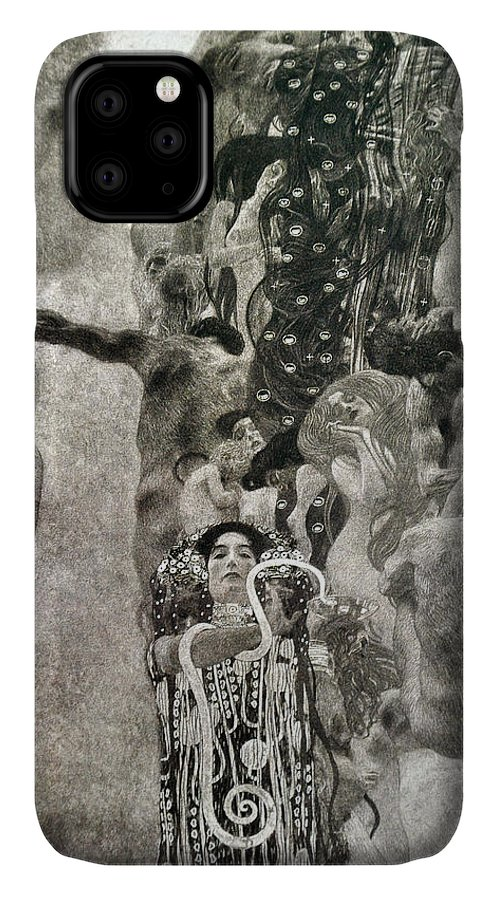 Gustav Klimt IPhone Case featuring the painting Medicine by Gustav Klimt