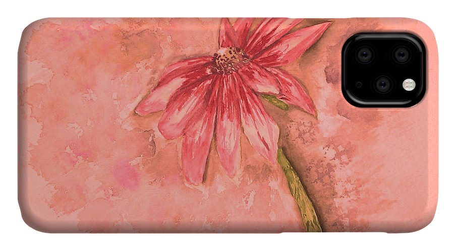 Watercolor IPhone Case featuring the painting Melancholoy by Crystal Hubbard