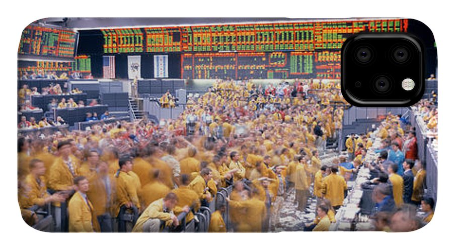 Photography IPhone Case featuring the photograph Mercantile Exchange, Trading, Chicago by Panoramic Images