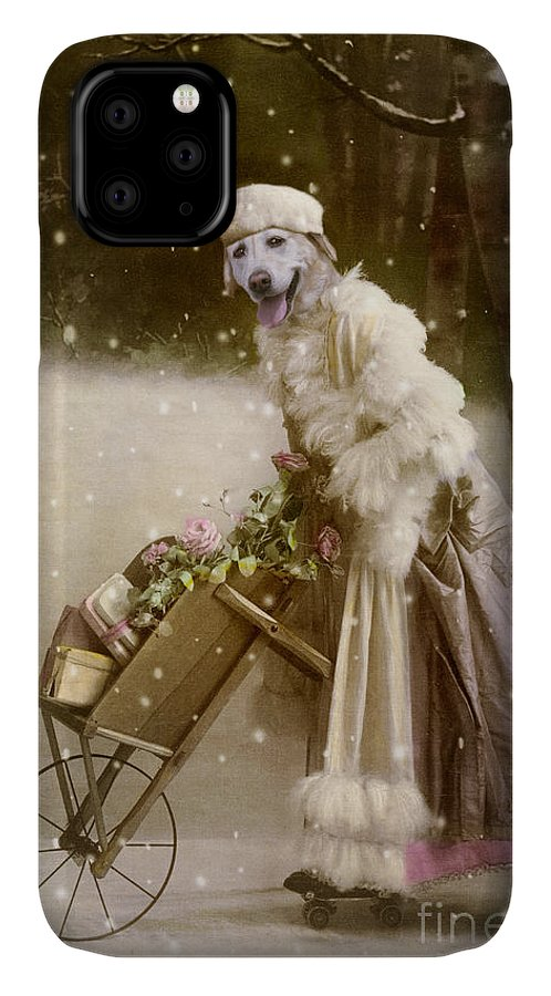 Christmas IPhone Case featuring the digital art Merry Christmas by Martine Roch