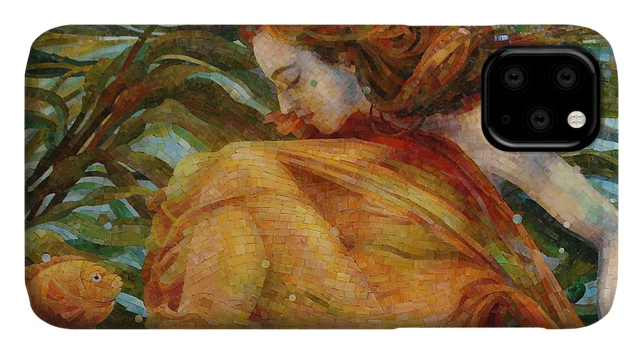 Landscape IPhone Case featuring the painting Metamorphosis by Mia Tavonatti