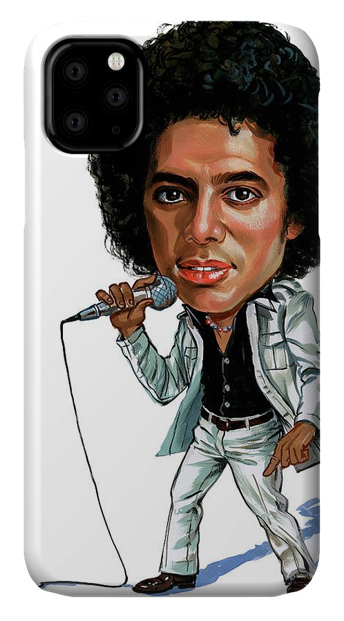 Michael Jackson IPhone Case featuring the painting Michael Jackson by Art