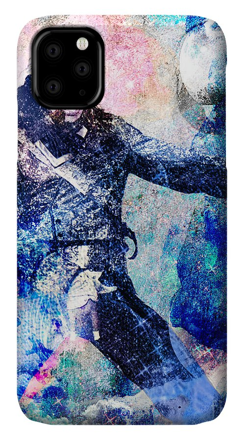Rock IPhone Case featuring the painting Michael Jackson Original Painting by Ryan Rock Artist