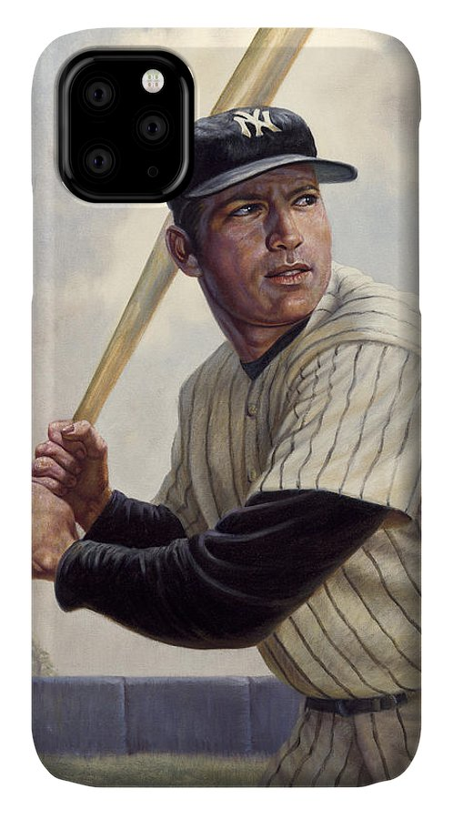 Gregory Perillo IPhone Case featuring the painting Mickey Mantle by Gregory Perillo