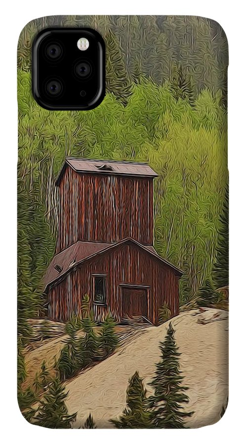 Old Mining Building Silverton Colorado IPhone Case featuring the digital art Mining Building In Colorado by Dan Sproul