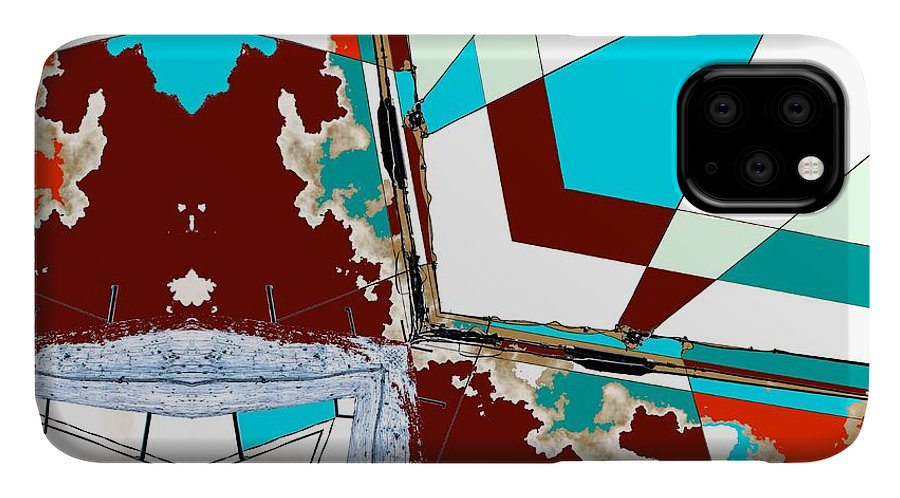 Abstract IPhone Case featuring the photograph Miscommunications by Laureen Murtha Menzl
