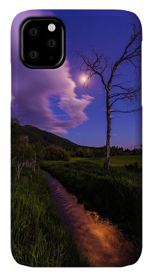 Wyoming IPhone 11 Case featuring the photograph Moonlight Meadow by Chad Dutson