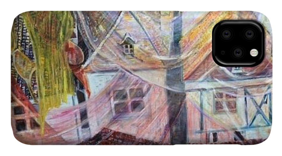 Village IPhone Case featuring the painting Morning Sunrise by Peggy Blood