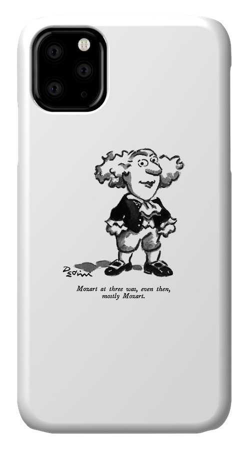 Play On Words IPhone Case featuring the drawing Mozart At Three by Eldon Dedini