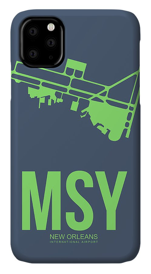New Orleans IPhone Case featuring the digital art Msy New Orleans Airport Poster 2 by Naxart Studio