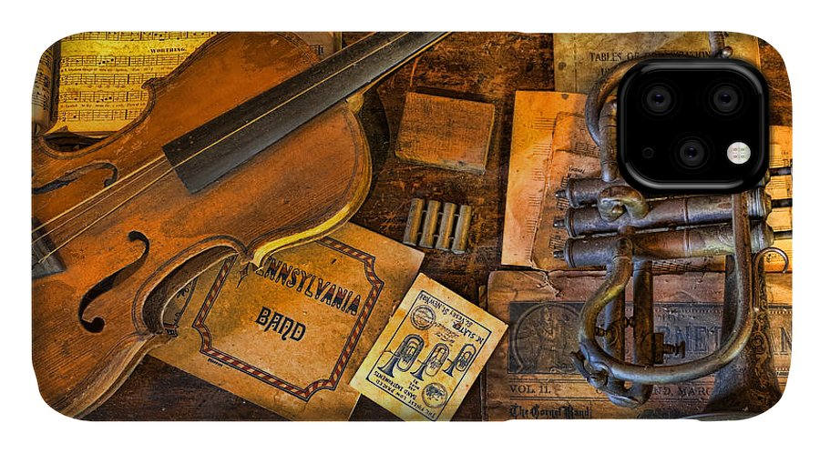 Gift For IPhone Case featuring the photograph Musician - Stradivarius And Trumpet At Rest IIi by Lee Dos Santos