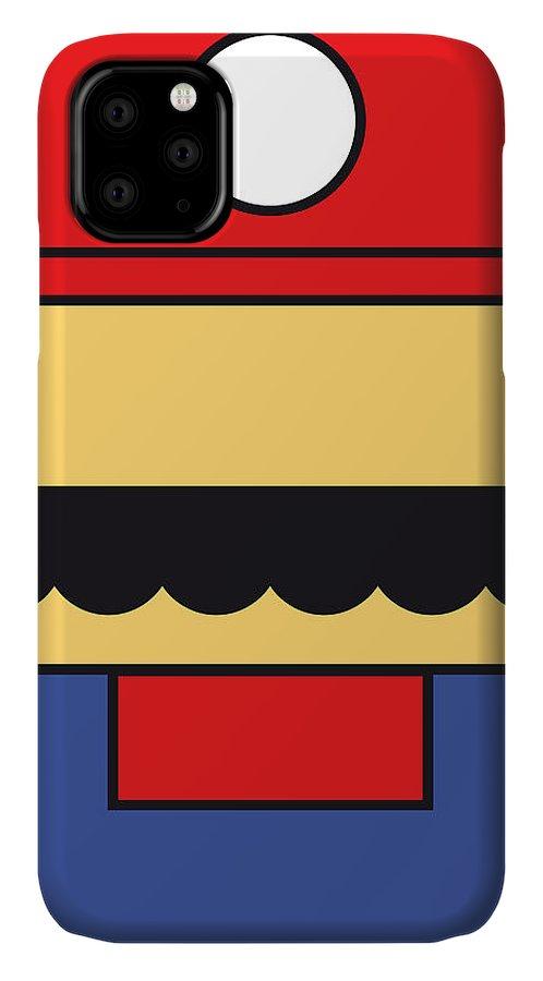 Mario IPhone Case featuring the digital art My Mariobros Fig 01 Minimal Poster by Chungkong Art