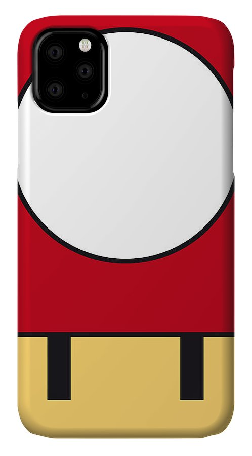 Mario IPhone Case featuring the digital art My Mariobros Fig 05a Minimal Poster by Chungkong Art
