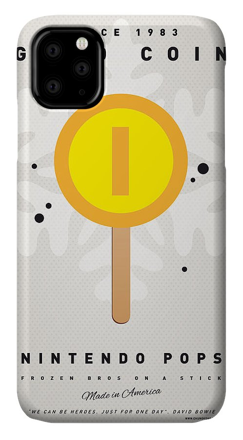 1 Up IPhone Case featuring the digital art My Nintendo Ice Pop - Gold Coin by Chungkong Art