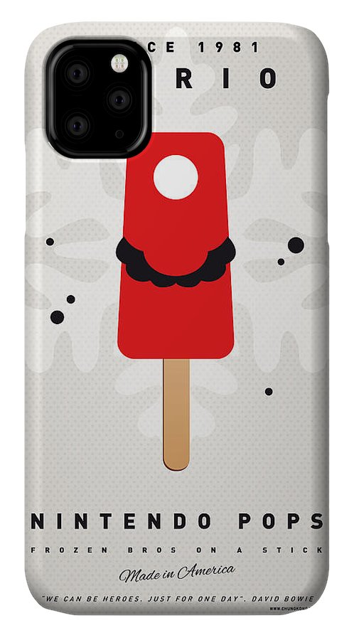 1 Up IPhone 11 Case featuring the digital art My Nintendo Ice Pop - Mario by Chungkong Art