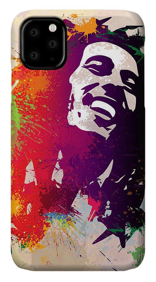 Reggae IPhone Case featuring the painting Nesta Robert by Anthony Mwangi
