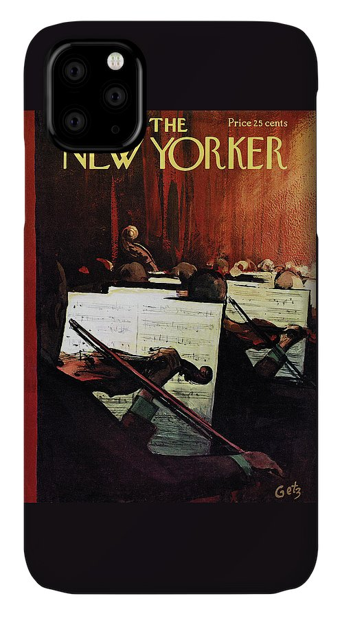 Concert IPhone Case featuring the painting New Yorker April 28th, 1962 by Arthur Getz